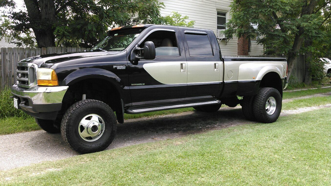 2000 ford f 350 super duty lariat crew cab pickup 4 door 7 3l for sale. Black Bedroom Furniture Sets. Home Design Ideas