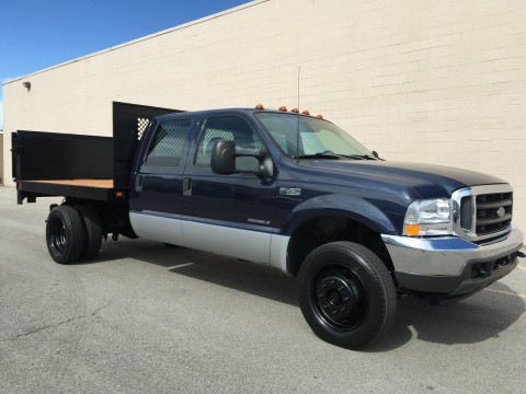 2002 Ford F 450 CREW 4X4 Dually Flatbed/lift GATE 7.3 Powerstroke for sale