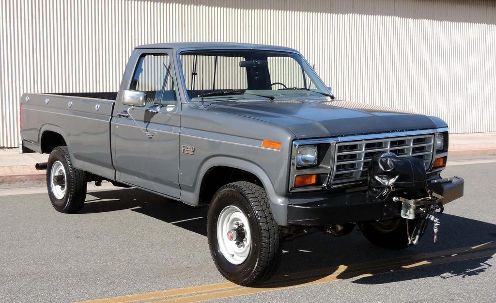 1986 ford f 250 4 4 california truck for sale. Black Bedroom Furniture Sets. Home Design Ideas