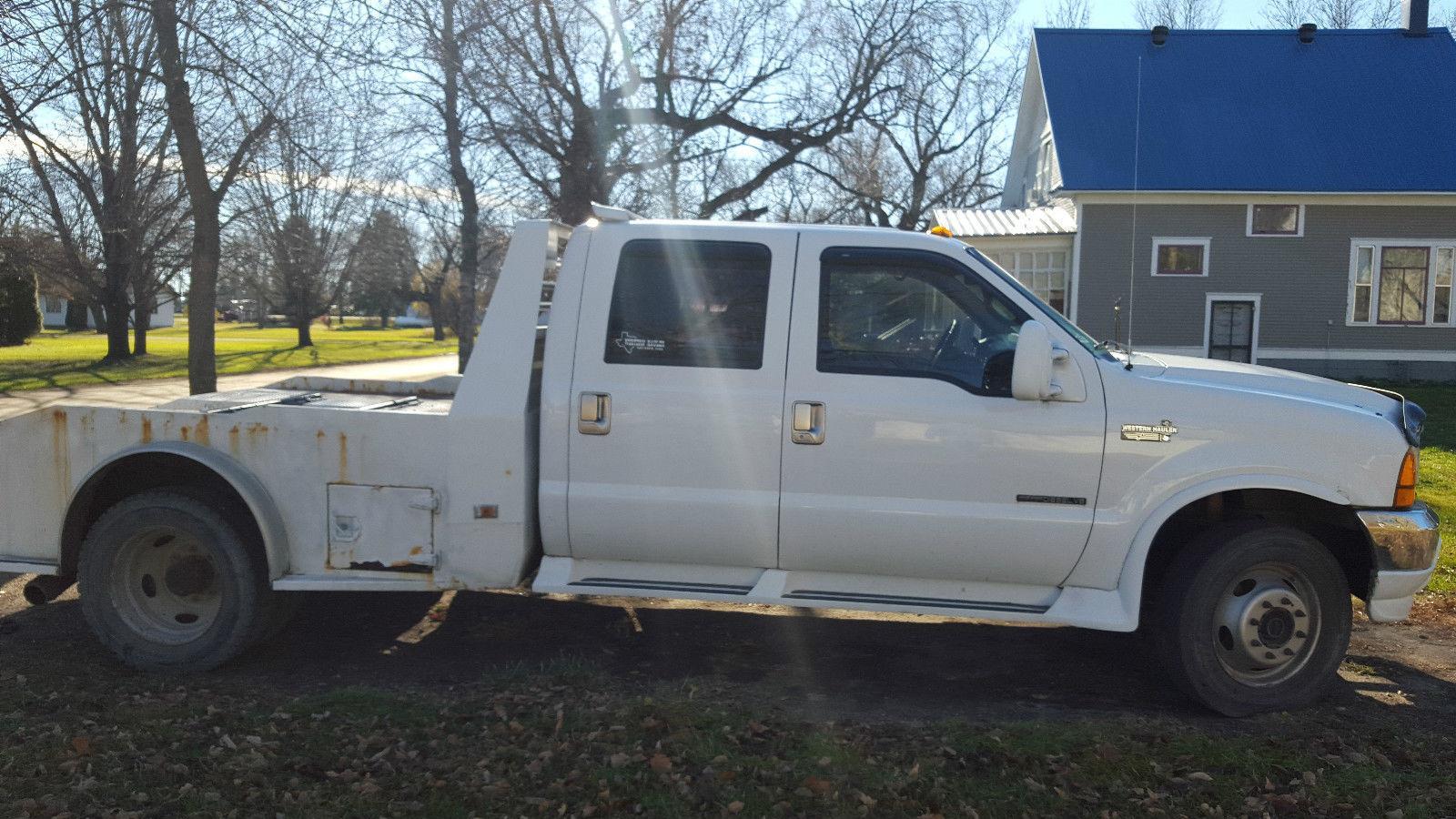 2000 ford f 550 diesel crew cab 4 4 western hauler super duty for sale. Black Bedroom Furniture Sets. Home Design Ideas