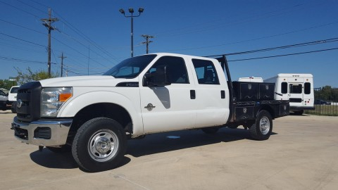 2011 Ford F 250 XL 6.7L Diesel 4X4 AUTO CREW CAB FLAT BED for sale