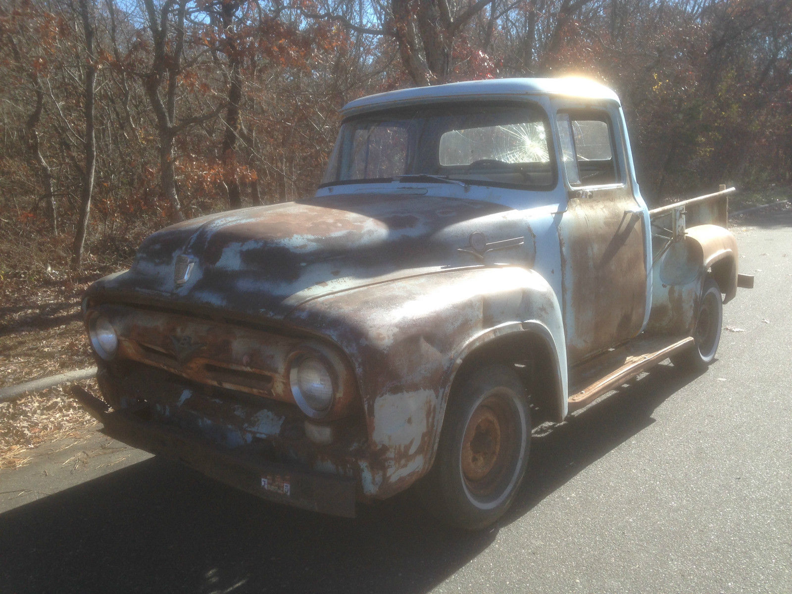1956 Ford F100 Short Wheelbase Pickup Truck Project Solid