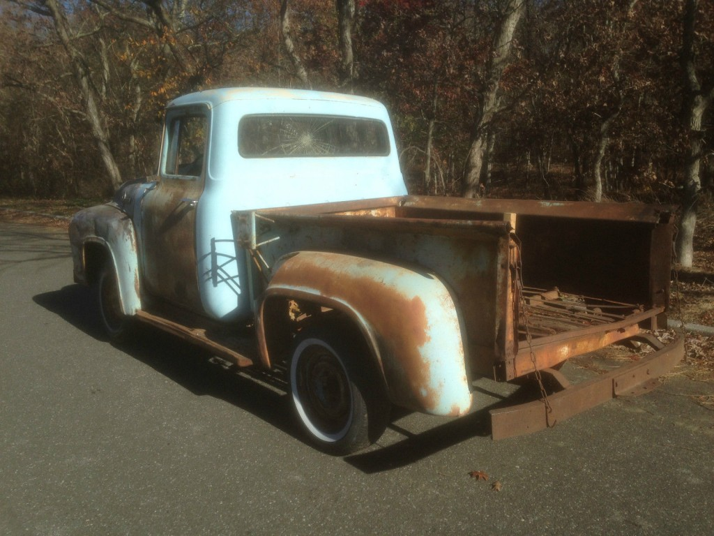 1956 Ford F100 Short Wheelbase Pickup Truck Project Solid ...