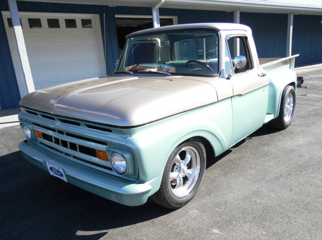 1963 ford f100 pickup truck 302v8 automatic for sale. Black Bedroom Furniture Sets. Home Design Ideas