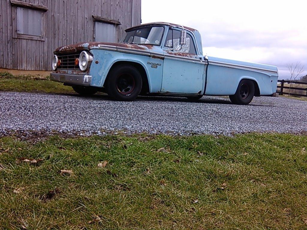 1967 Dodge D100 Patina Barn Find Rat Rod For Sale