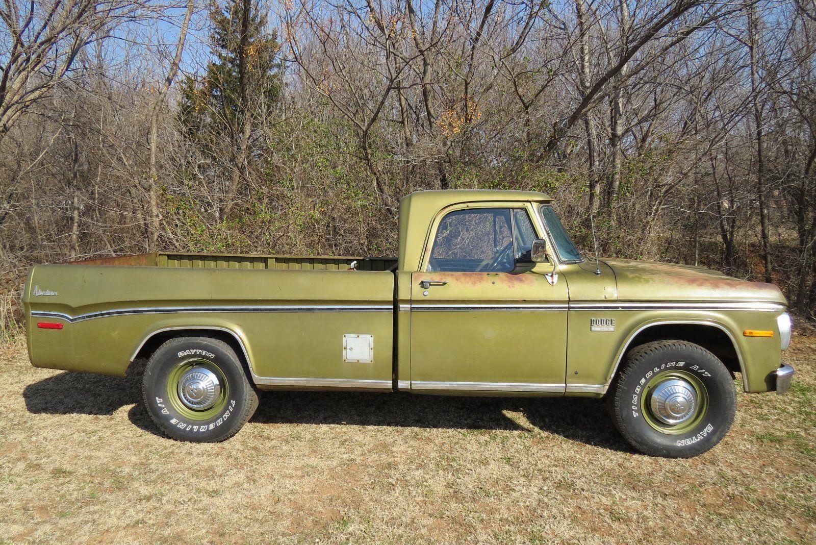 1971 dodge d200 camper special sweptline 3 4 ton pick up truck for sale. Black Bedroom Furniture Sets. Home Design Ideas
