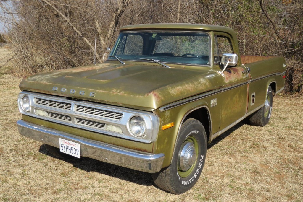 1971 dodge d200 camper special sweptline 3 4 ton pick up truck for sale. Black Bedroom Furniture Sets. Home Design Ideas