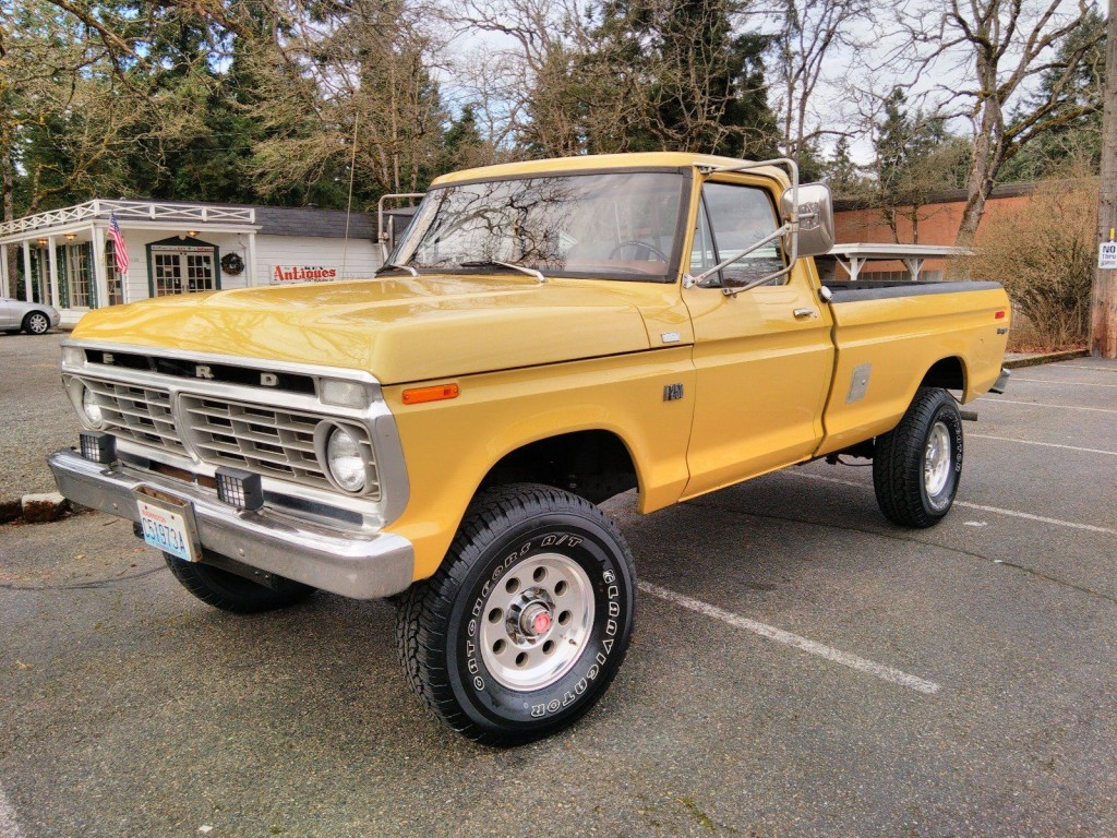 Ford Highboy For Sale 1975 F250 Ranger 4x4 True 1971 F 250 By 1973