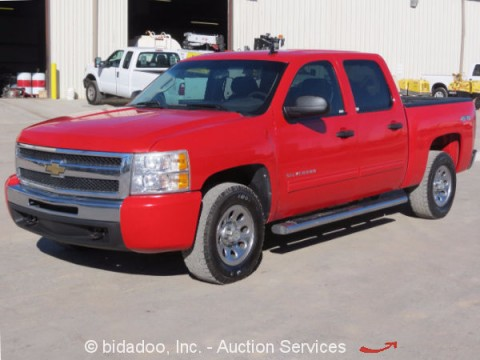 2011 Chevrolet Silverado 1500 4×4 Crew Cab Pickup Truck 4.8L V8 for sale