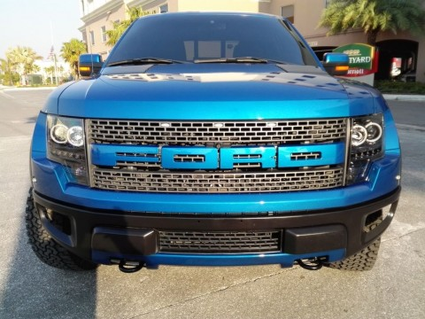 2012 Ford F 150 SVT Raptor Roush 590 HP Crew Cab Pickup 6.2L Blue Supercharged for sale