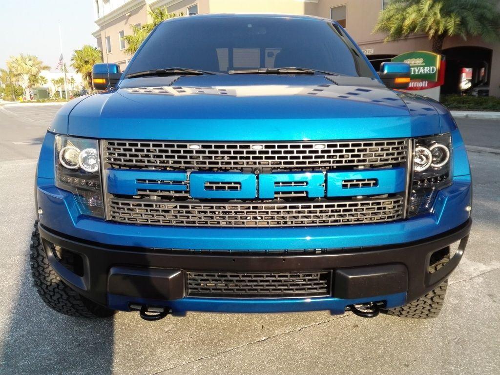 2012 ford f 150 svt raptor roush 590 hp crew cab pickup 6 2l blue supercharged for sale. Black Bedroom Furniture Sets. Home Design Ideas
