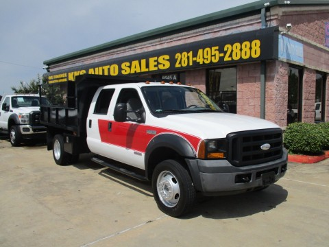 2006 Ford F550 Dump and Landscaping Super Duty Turbo Diesel Truck for sale