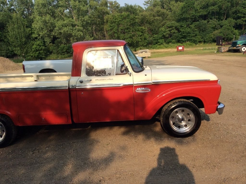 1965 ford f 100 custom camper special pickup truck for sale. Black Bedroom Furniture Sets. Home Design Ideas
