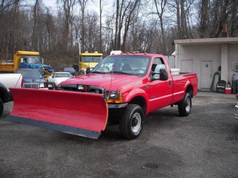 2001 Ford F-250 XL Standard Cab Pickup with Plow for sale