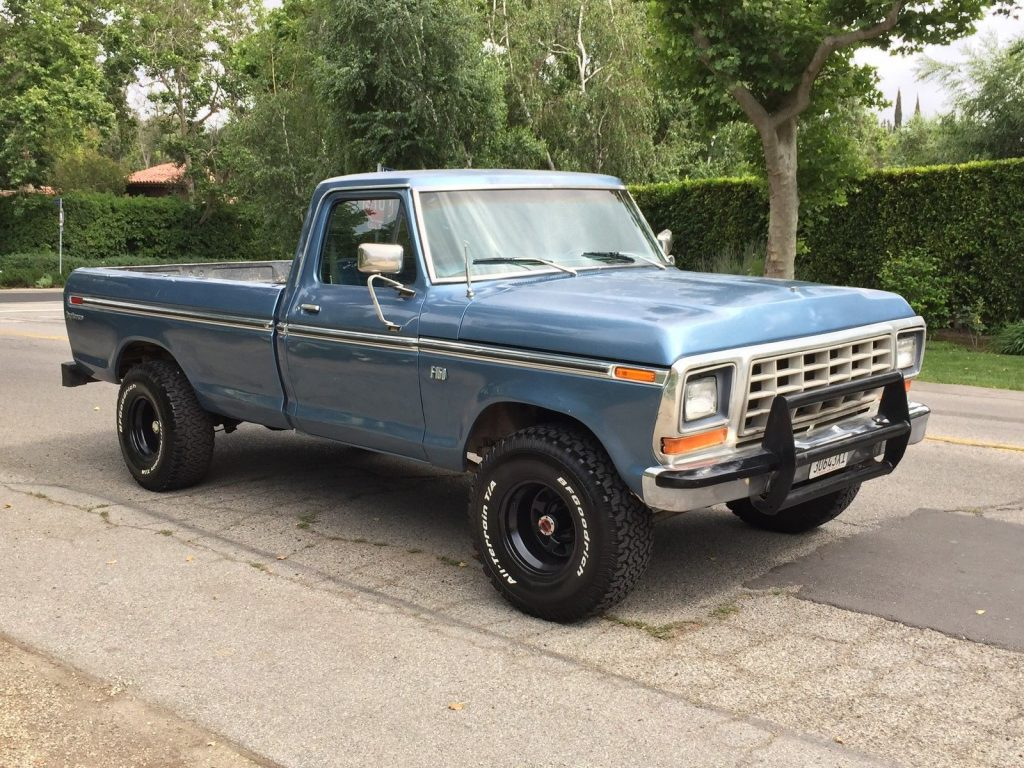 4-speed stick shift 1976 Ford F 150 Custom Standard pickup