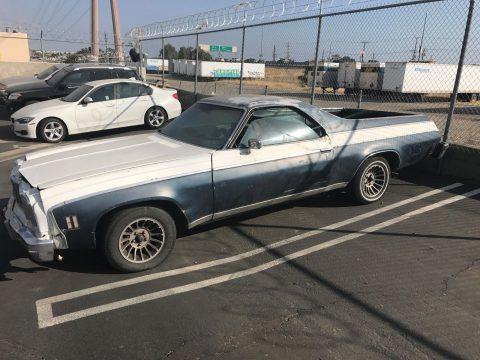 Needs restoration 1975 Chevrolet El Camino pickup for sale