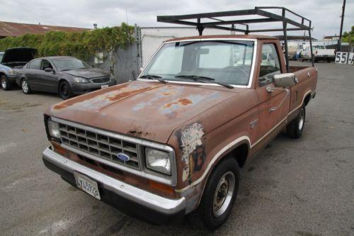great work truck 1986 ford ranger xl pickup for sale. Black Bedroom Furniture Sets. Home Design Ideas