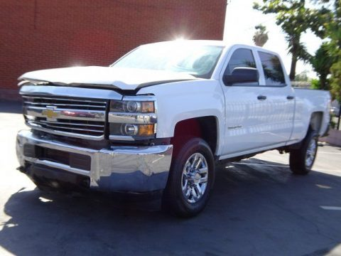 Damaged 2015 Chevrolet Silverado 2500 Crew Cab pickup for sale