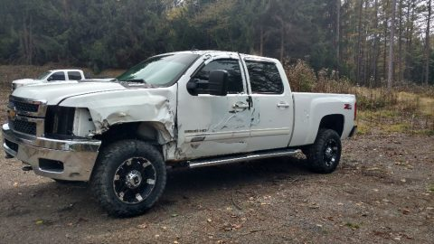 damaged 2011 Chevrolet Silverado 2500 LTZ Pickup for sale