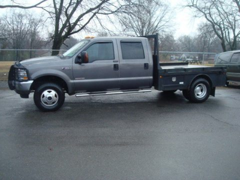 loaded 2004 Ford F 350 LARIAT flatbed pickup for sale