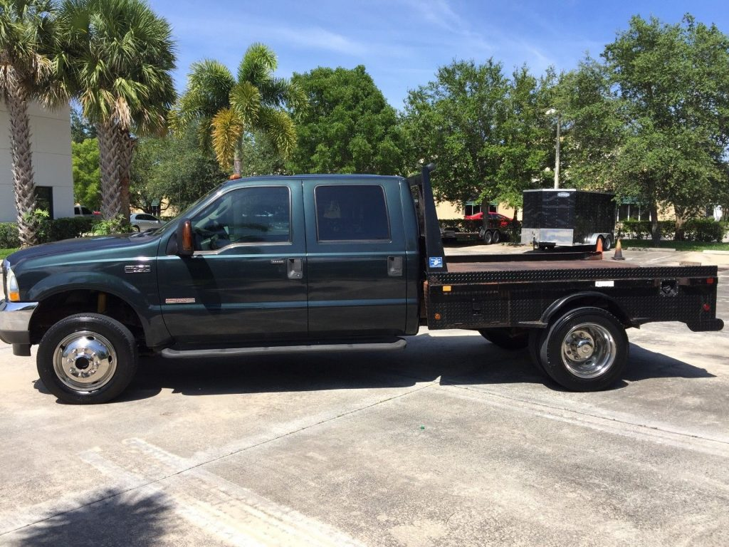 recently serviced 2004 Ford F 450 Lariat flatbed pickup