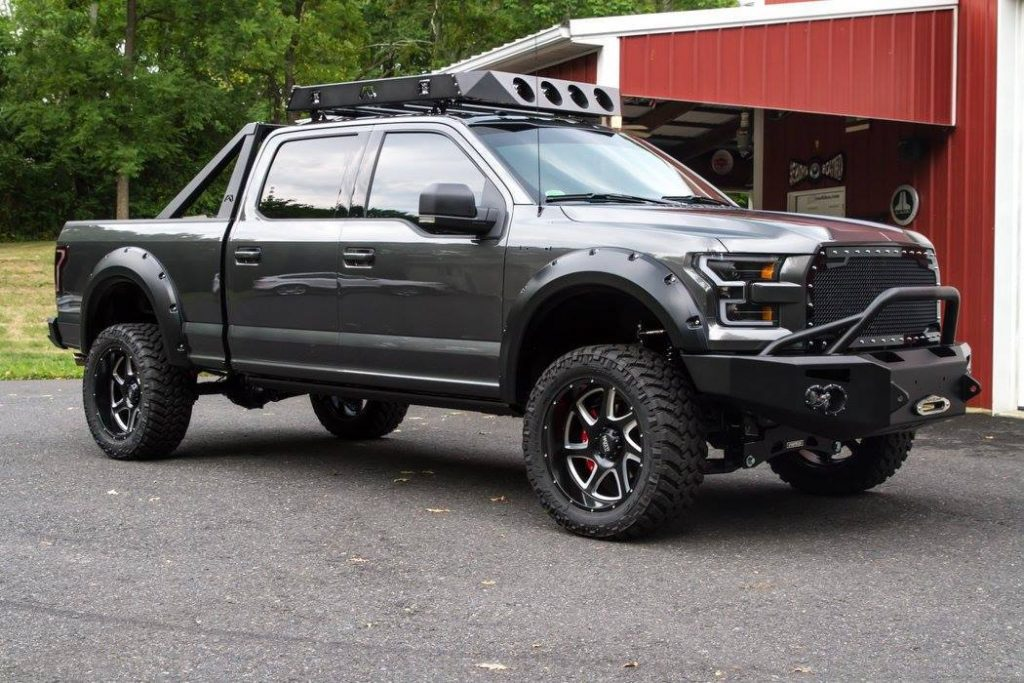 lifted 2016 Ford F 150 Super Crew Cab pickup