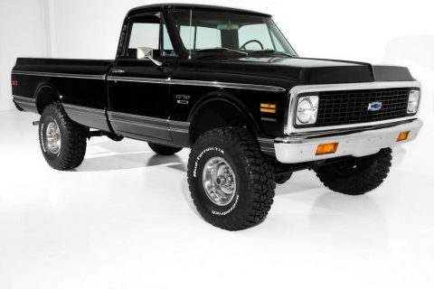 Black beauty 1972 Chevrolet K10 Pickup for sale