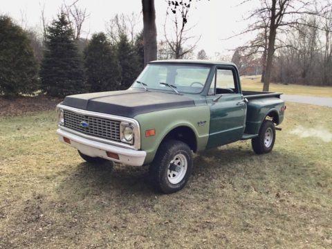 needs work 1972 Chevrolet C10 Shortbed Stepside pickup for sale