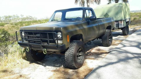 older front clip 1985 Chevrolet M1008 CUCV Longbed Pickup for sale