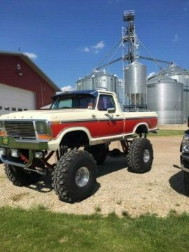 vintage lifted 1978 Ford F 150 pickup for sale