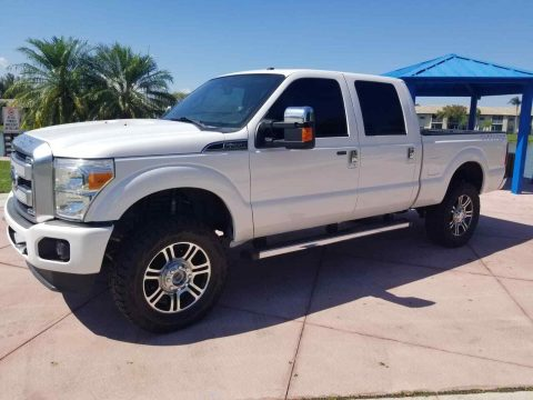 well equipped 2014 Ford F 250 Platinum king Ranch Lariat pickup for sale