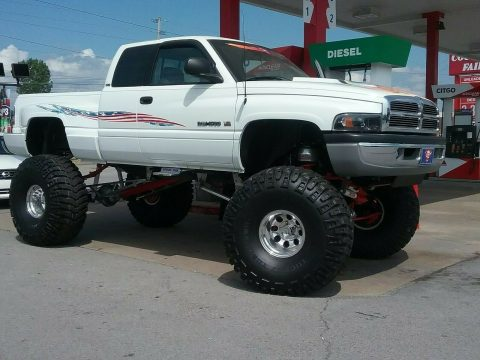 lifted 1996 Dodge Ram 1500 pickup for sale