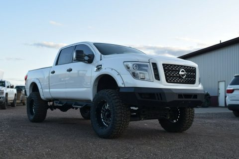 well modified 2016 Nissan Titan Pro4X pickup for sale